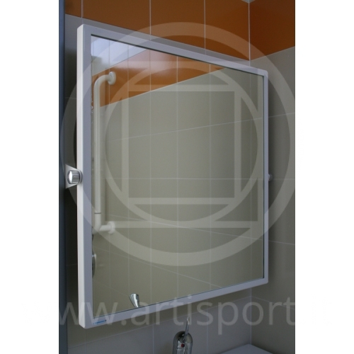 Accessori spogliatoio specchio a parete per disabili