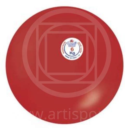Palla anelastica per lancio del peso, kg 6