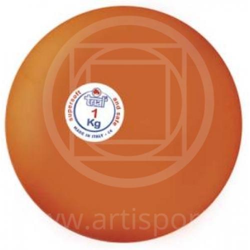 Palla in gomma anelastica per palestre, lancio del peso kg 1