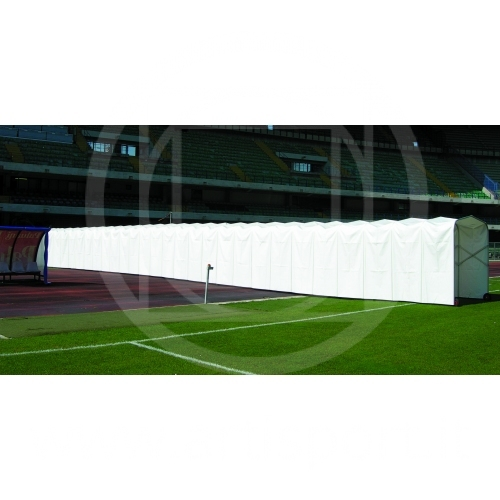 Tunnel estensibile per impianti calcio
