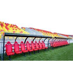 Aluminium soccer coach benches