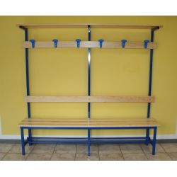 Locker room benches square section