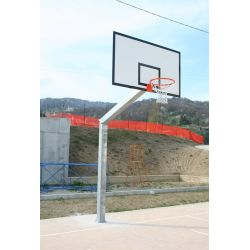 Outdoor basketball facility