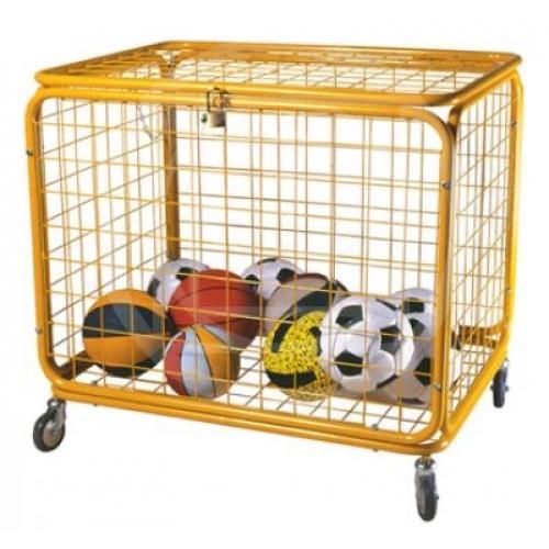 Carrello porta palloni per palestre in ferro