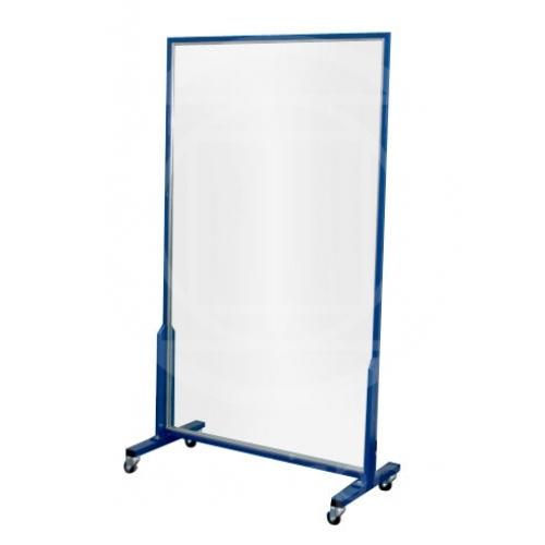 Specchio con ruote per ginnastica