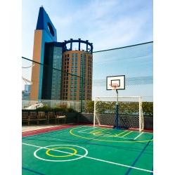 transportierbare halbe Basketballanlage