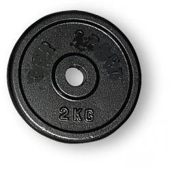 Hantelscheibe aus Gusseisen kg 2