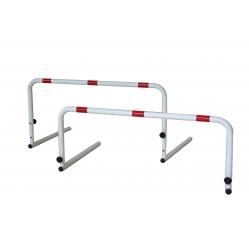 Hürde aus Stahl in verstellbaren Höhen cm 60-70-80