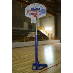 transportabler Basketballkorb mit Pfosten