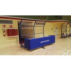 Schiedsrichtertisch mit Schutzfunktion Länge m 3