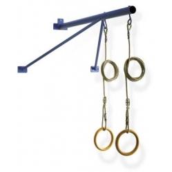 Gerüst zur Befestigungung von Ringen mit Seilen