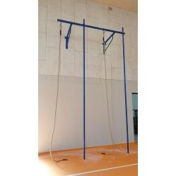 Klettergerüst mit 2 Stangen und 2 Seilen m 5