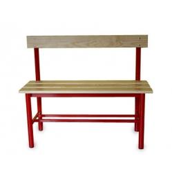Sitzbank mit Rückenlehne für Umkleideräume m 1