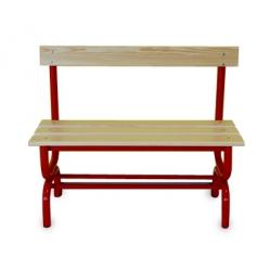 Sitzbank für Umkleideräume mit Rückenlehne m 1.