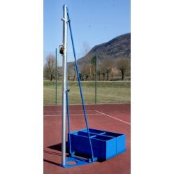 Volleyballanlage mit Ballastbehälter