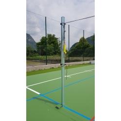 Volleyballanlage aus verzinktem Stahl Durchmesser mm 100 mit Bodenhülsen