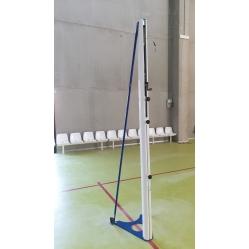 transportable Volleyballanlage aus Aluminium TÜV zertifiziert gemäß NORM UNI EN 1271.