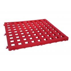 zusammensetzbare rote Gittermatte aus Plastik, Abemessungen cm 50x50