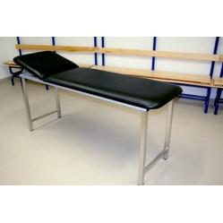 Medizinbett aus verchromtem Stahl