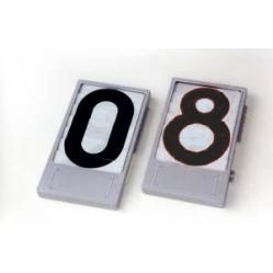 Nummernanzeige Farbe schwarz