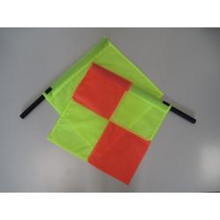 Linesman flag yellow  draped