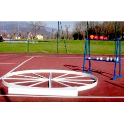 Shot put/hammer throwing platform