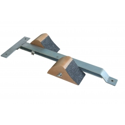 Starting block with lock plate