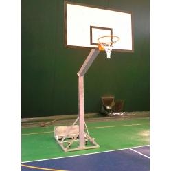 Portable monotubolar basketball system