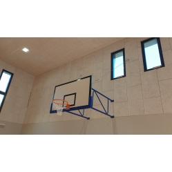 Wall-mounted basketball backboards overhang 185 cm