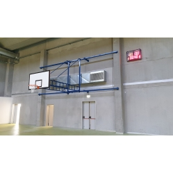 Basketball facility wall mounting