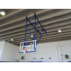 Wall mounted basketball system