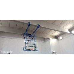 Wall mounted basketball system