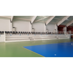 Fixed grandstand for indoor