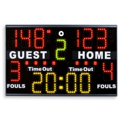 Portable electronic scoreboard