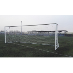 Aluminun football goals 7.32x2.44 m.TUV CERTIFICATE ACCORDING TO UNI EN 748