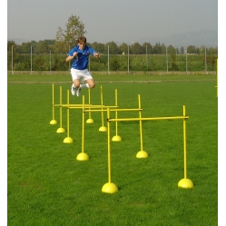 Training hurdles up to 100 cm