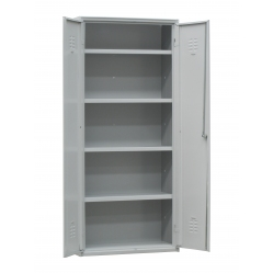 Metal cabinet for gym equipment