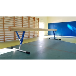 balance beam adjustable from 80 cm to 120 cm.