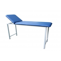 Examination bed in painted steel