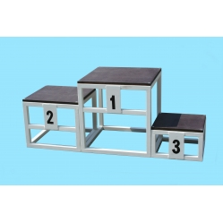 Winners stand made of 3 separate steps