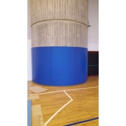 Self-adhesive column protection