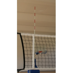 Volleyball court antennas