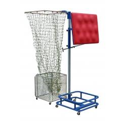 Block simulator with ball catcher