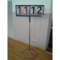 Volleyball scoreboard with rotating pole Meteore model