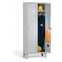 Metal locker with 2 places