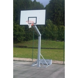 monotubolar portable basketball system