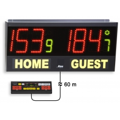Electronic scoreboard for volleyball, futsal, table tennis