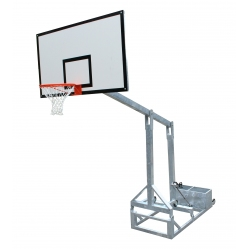 Folding basketball facility