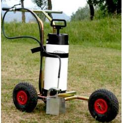 Field marker cart for paint