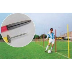 Slalom pole with ferrule